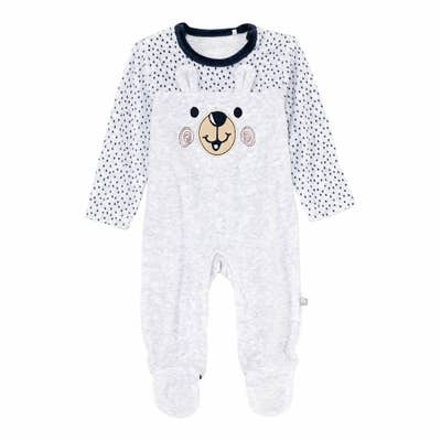 Baby-Jungen-Strampler mit Bärengesicht