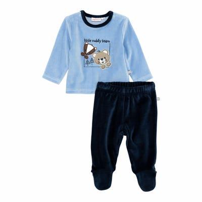 Baby-Jungen-Set mit Tier-Applikationen, 2-teilig