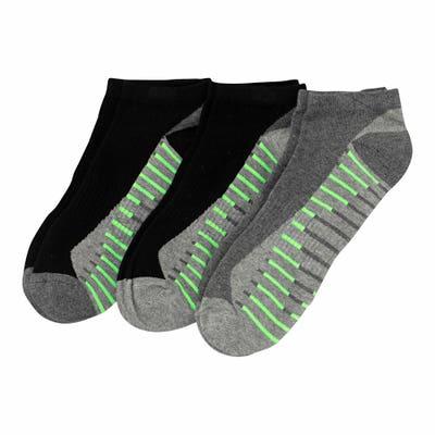 Herren-Sportsneaker-Socken mit Kontrast-Streifen, 3er-Pack