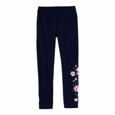 Mädchen-Leggings mit Blumen-Aufdruck