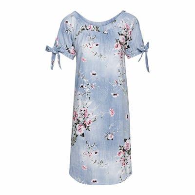 Damen-Kleid mit Carmen-Ausschnitt