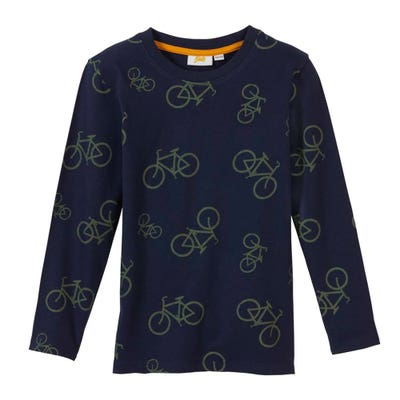 Kinder-Jungen-Shirt mit Fahrrad-Motiv