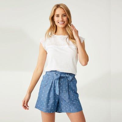 Damen-Shorts mit Bindegürtel