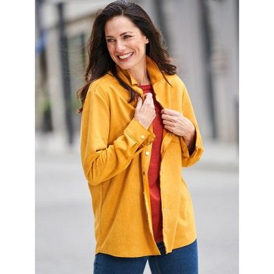 Damen-Veloursleder-Optik-Bluse in verschiedenen Farben