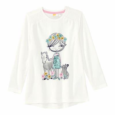 Mädchen-Shirt mit Pailletten