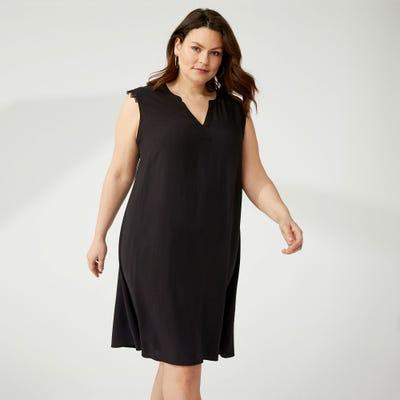 Damen-Kleid mit Spitze, große Größen