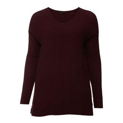 Damen-Pullover mit Schmuckbiese, große Größen
