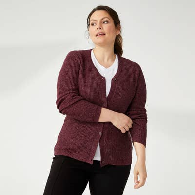 Damen-Strickjacke mit Melange-Optik