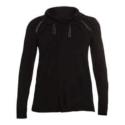 Damen-Pullover mit Zierfransen, große Größen
