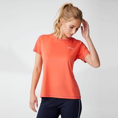 Damen-Fitness-T-Shirt mit Kontrast-Nähten