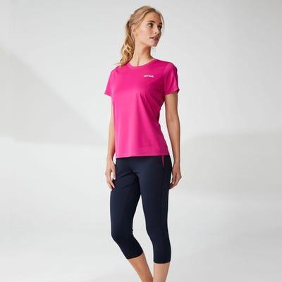 Damen-Fitnesshose mit Kontrast-Einsätzen