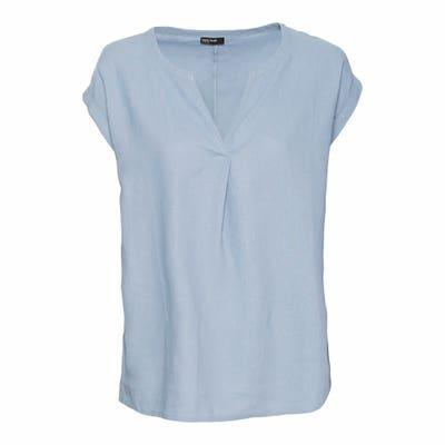Damen-Bluse mit Leinen