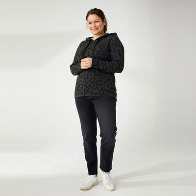 Damen-Jeans mit Glitzersteifen, Großen Größen