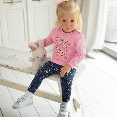 Baby-Mädchen-Thermo-Leggings mit Herz-Motiv