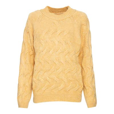 Damen-Pullover mit Zopfmuster