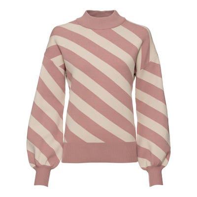 Damen-Pullover mit Ballon-Ärmeln
