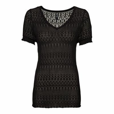 Damen-T-Shirt in Ajour-Optik