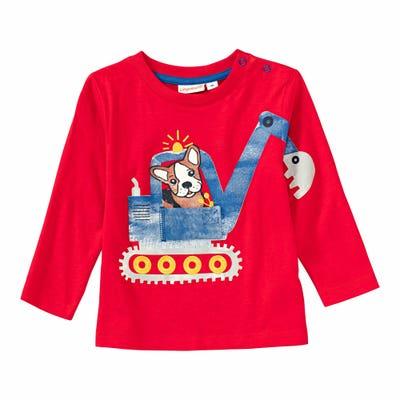 Baby-Jungen-Shirt mit Bagger-Frontaufdruck