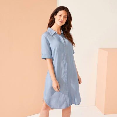 Damen-Kleid in Jeans-Optik