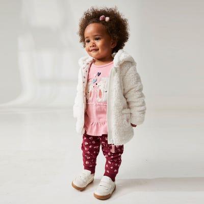 Baby-Mädchen-Jogginghose mit Blumendruck