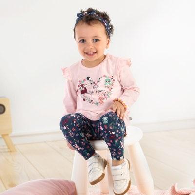Baby-Mädchen-Set mit Haarband, 3-teilig