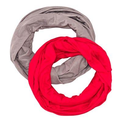 Damen-Tuch, Loop Schal, 2er-Pack