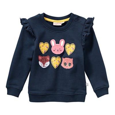 Baby-Mädchen-Sweatshirt mit Applikationen