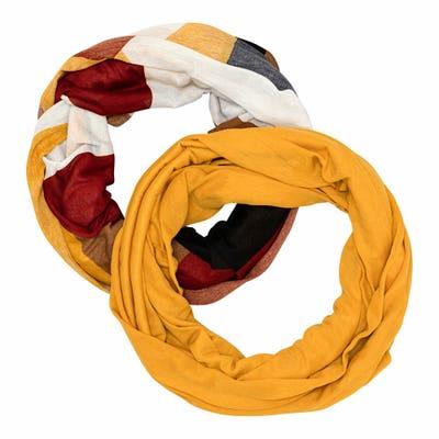 Damen-Tuch mit modischem Druck, 2er-Pack