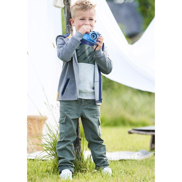 Kinder-Jungen-Cargohose mit verstellbarem Bund