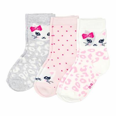 Mädchen-Socken, 3er-Pack