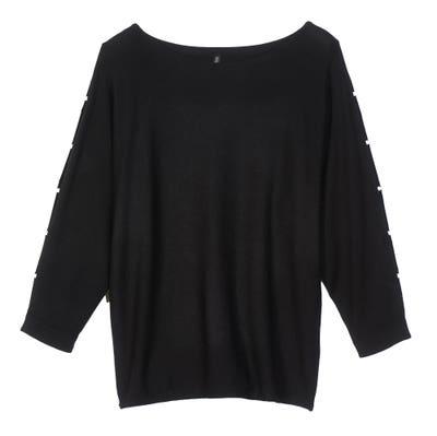 Damen-Pullover mit Perlen
