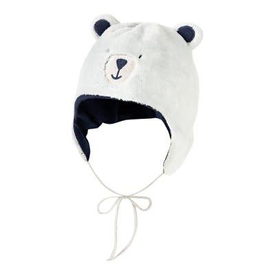 Baby-Jungen-Mütze mit applizierten Ohren