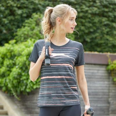 Damen-T-Shirt mit sportlichen Streifen