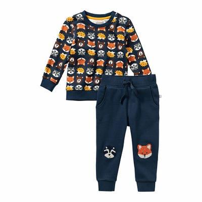 Baby-Jungen-Set mit Waldtier-Muster, 2-teilig