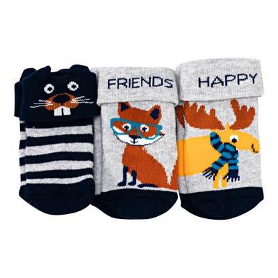Baby-Jungen-Frottee-Socken, 3er-Pack