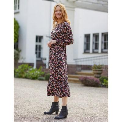 Damen-Kleid mit Volant-Saum