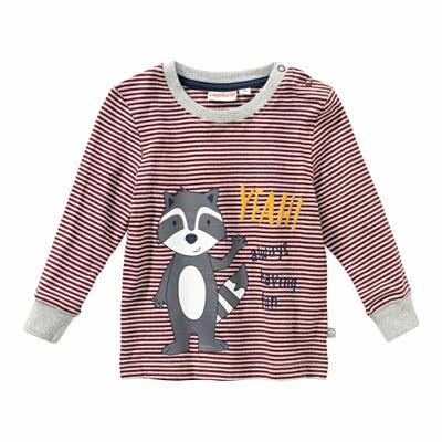 Baby-Jungen-Shirt mit Dachs-Druck