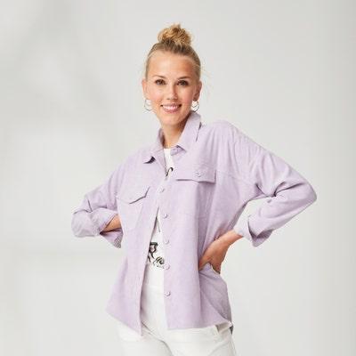 Damen-Bluse mit überschnittenem Style
