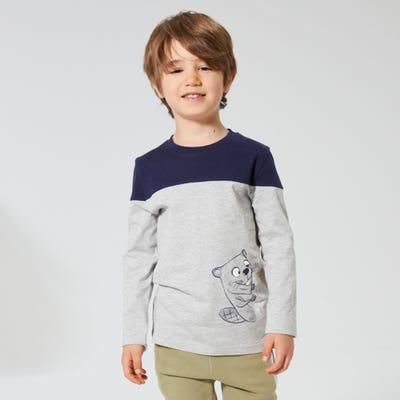 Jungen-Shirt mit Biber-Aufdruck