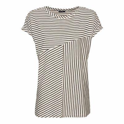 Damen-T-Shirt mit trendigem Streifendesign