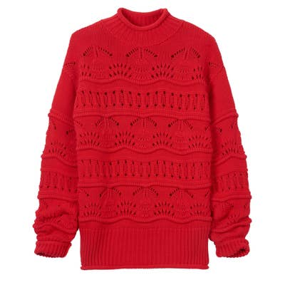 Damen-Pullover mit Ajourmuster