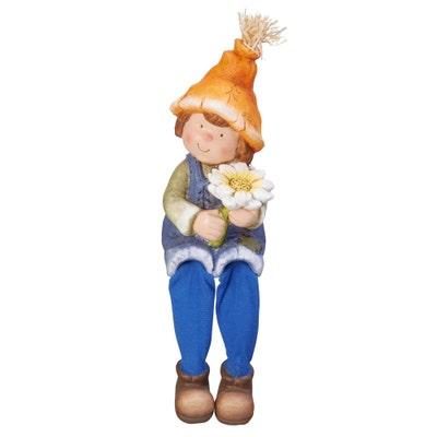 Deko-Figur mit Kantenhocker-Beinen, ca. 15x16x33cm