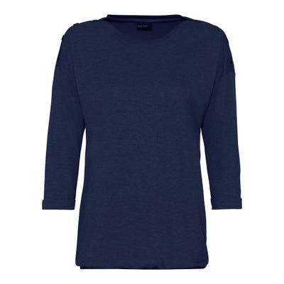 Damen-Shirt mit Knöpfen an den Schultern