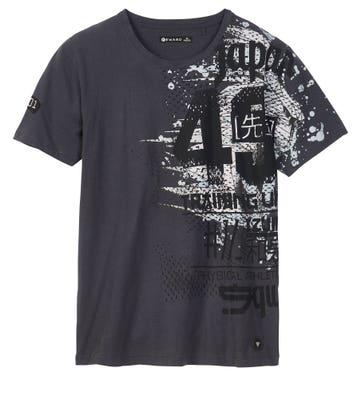 Herren-T-Shirt mit stylischem Aufdruck
