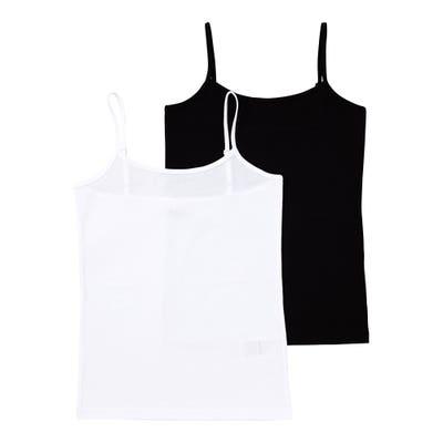 Mädchen-Unterhemd mit verstellbaren Trägern, 2er-Pack
