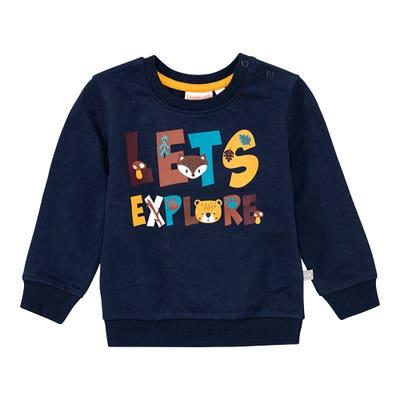 Baby-Jungen-Sweatshirt mit Schriftzug