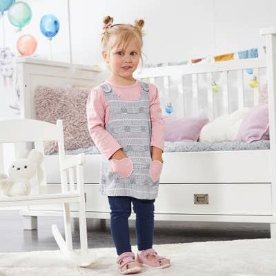 Baby-Mädchen-Set mit Kleid, 3-teilig