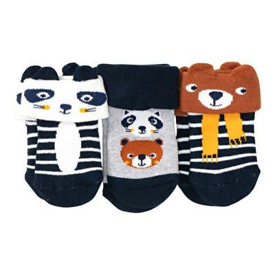 Baby-Jungen-Frottee-Socken mit 3D-Ohren