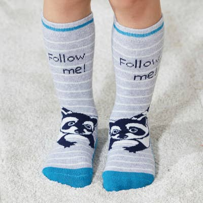 Kinder-ABS-Socken mit Tier-Motiv, 2er-Pack