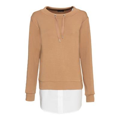 Damen-Sweatshirt mit Bluseneinsatz